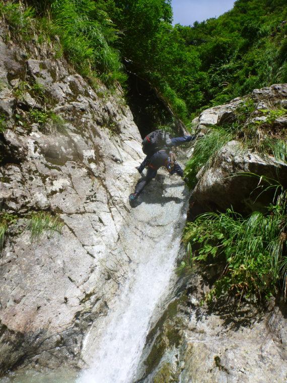 滑り台状滝