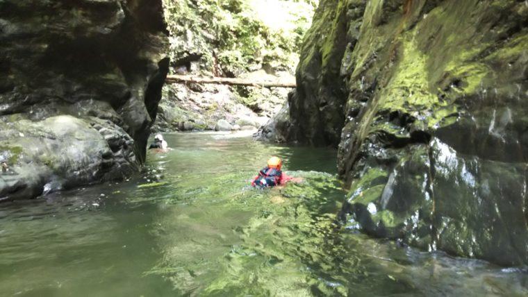 一ノ瀬川で嫌というほど泳ぐ