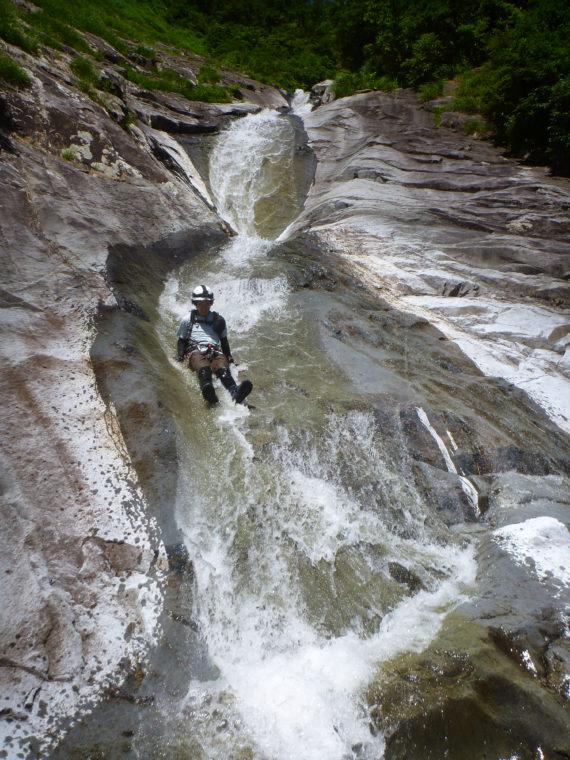 ナメ滝スライダー