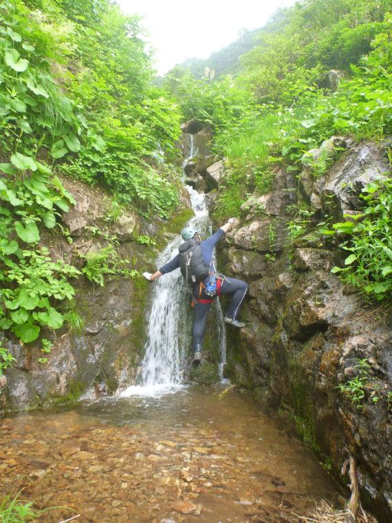 テクニカルな小滝