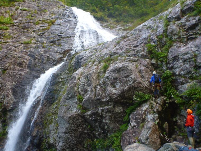 三ノ滝一段目登攀