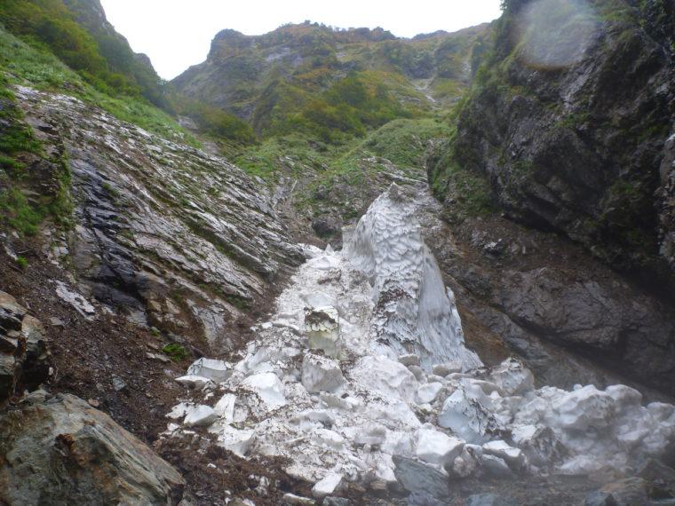 オツルミズ沢雪渓