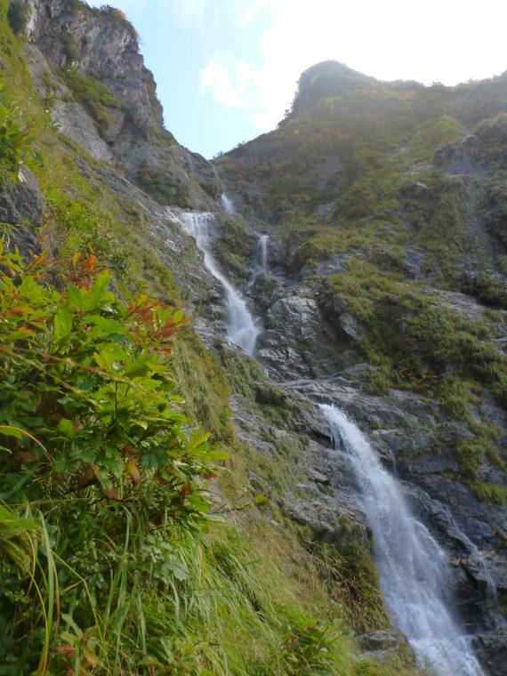 サナギ滝下段の巻き