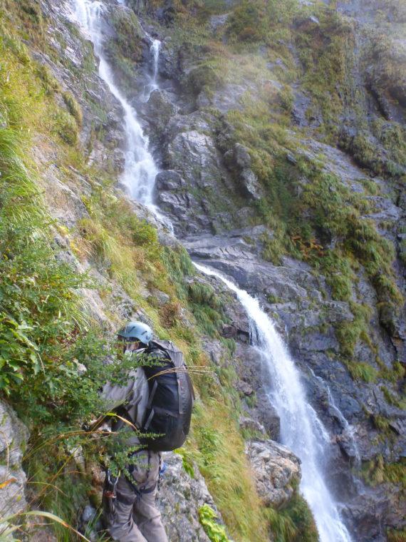 サナギ滝へトラバース