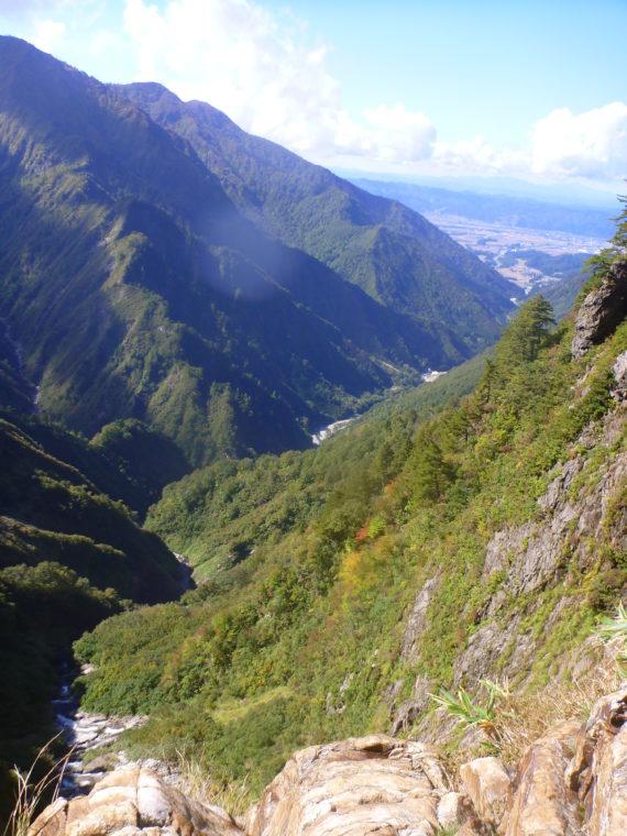 サナギ滝上からの眺め