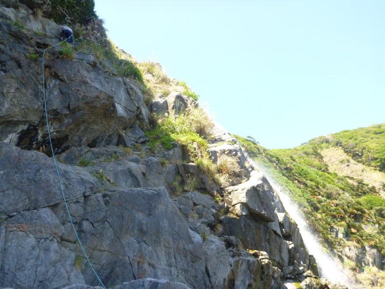 篠穂の滝登攀2