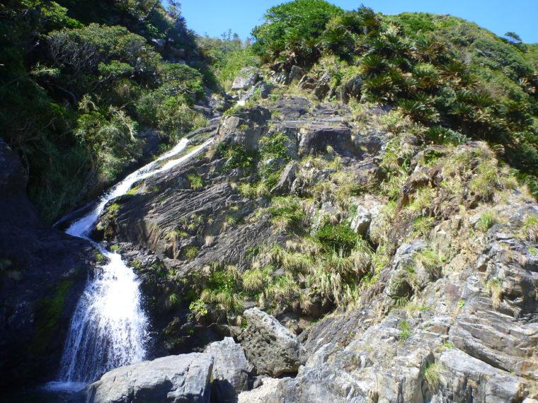 篠穂の滝2段目