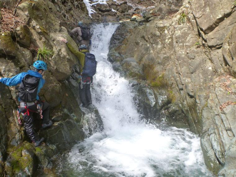 小滝が続く