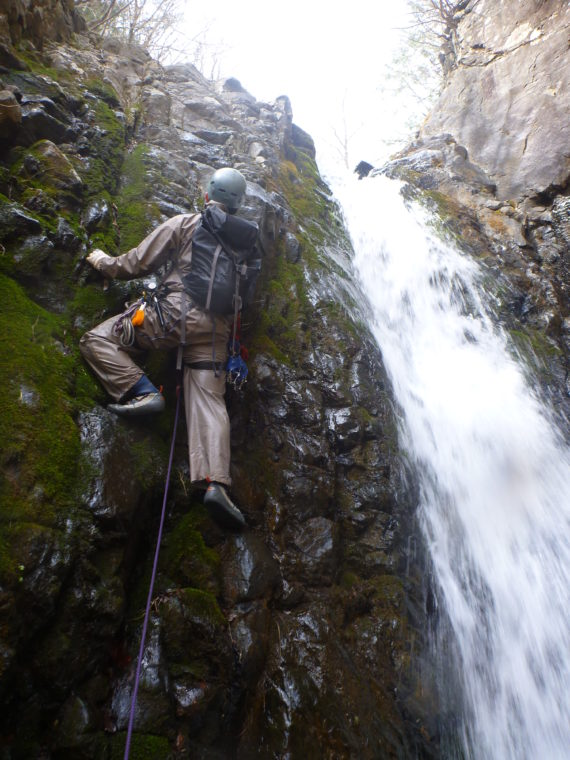 キューハ沢2段10m滝上段